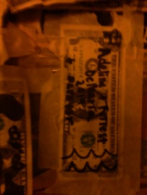 Left our $1 bill to find next time!